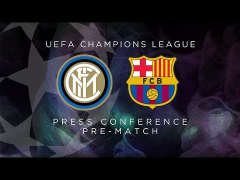 INTER vs BARCELONA | LIVE | Pre-Match Press Conference Conte + Godin [SUB ENG]