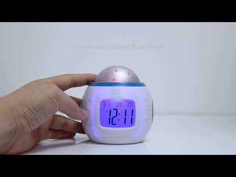 GPCT Starry Sky Projection Clock with Audio Sounds and Songs
