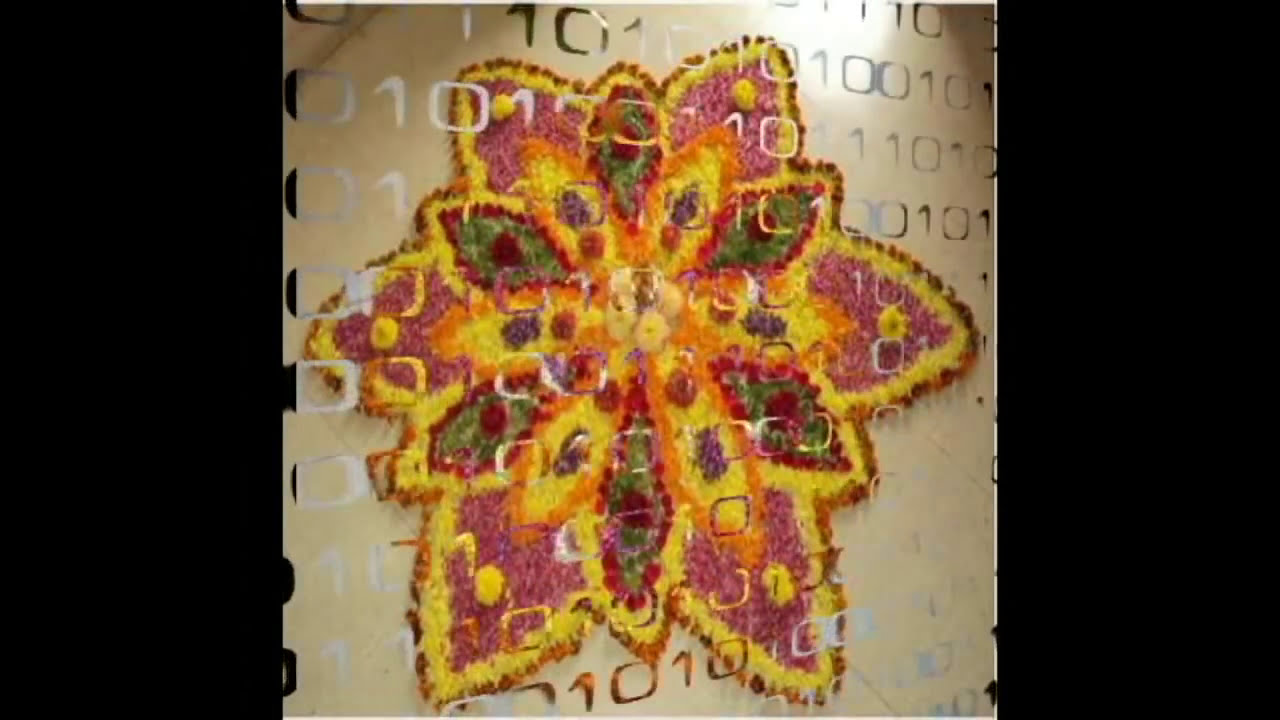beautiful onam pookalam designs by movies trend