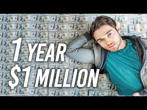 , title : 'How To Become A Millionaire In ONE Year (My Plan)