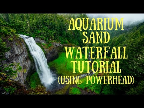 Aquarium Sand Waterfall DIY (Using Powerhead)