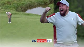 Lowry holds nerve with brilliant match winning putt for Team Europe! 💪 | Ryder Cup