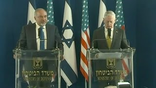 US & Israeli Defense Heads Answer Questions In Tel Aviv - Full News Conference