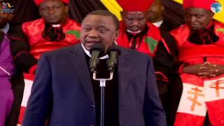 Uhuru's full speech at John De Mathew's funeral service