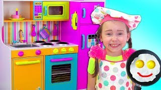 Video Alice Pretend Princess & playing in Restaurant with Kitchen Toys MP3, 3GP, MP4, WEBM, AVI, FLV September 2019