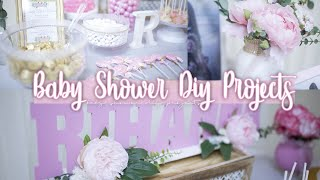 DIY BABY SHOWER IDEAS | AFFORDABLE DIYS FOR GIRL BABY SHOWER | GIRL BABY SHOWER IDEAS