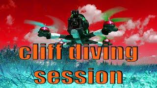 FPV cliff diving session in Nesher | צלילת צוקים בנשר