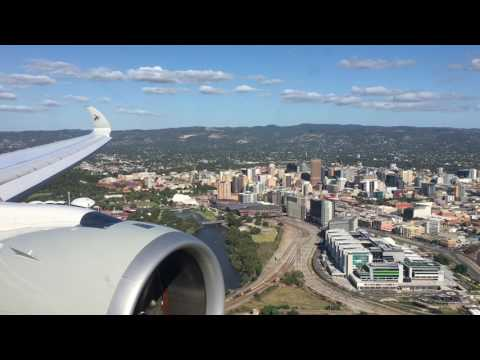 Super car video Approach and landing into Adelaide YPAD Runway 23..