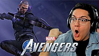 Marvels Avengers Game - HAWKEYE REVEAL TRAILER REACTION!