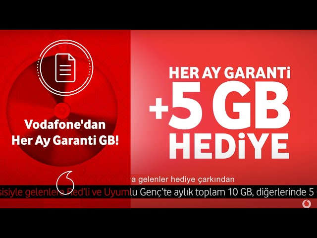 Vodafone'dan Her Ay Garanti GB!