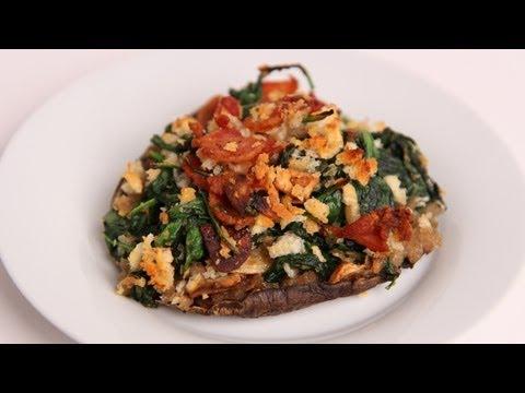 Bacon & Spinach Stuffed Portobello Mushrooms Recipe – Laura Vitale – Laura in the Kitchen Ep 401