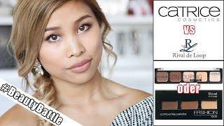 Welche CONTOURING PALETTE ist BESSER? l CATRICE VS RIVAL DE LOOP l #BeautyBattle #6 l Kisu