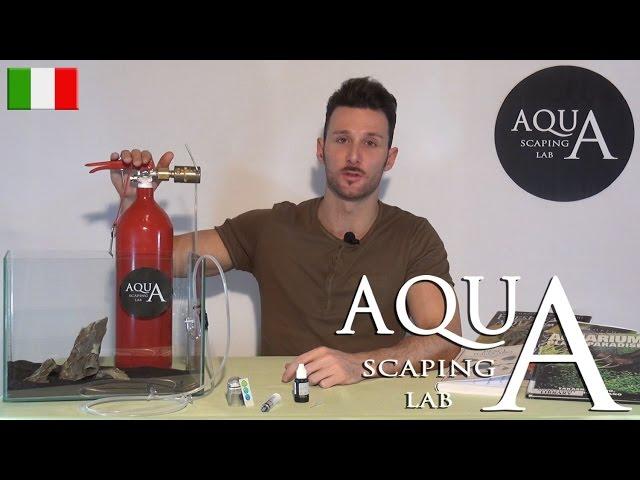 Aquascaping Lab - CO2 impianto di fertilizzazione con Anidride Carbonica tutorial su installazione