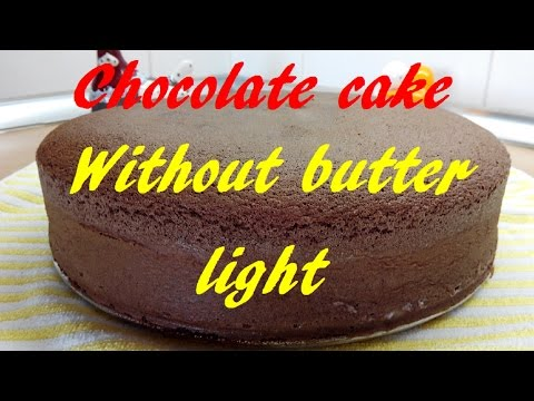 Video Chocolate Sponge Cake, No butter, Light, Basic cake