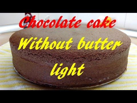 Video Chocolate Sponge Cake, No butter, Light, Basic cake