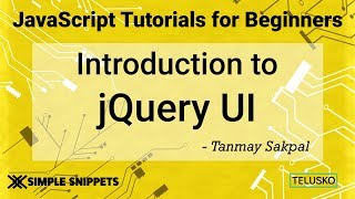 #48 JQuery UI Including JQuery UI in Project