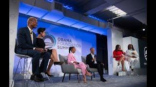 President Obama in conversation with Yara Shahidi and Obama Foundation Program Participants