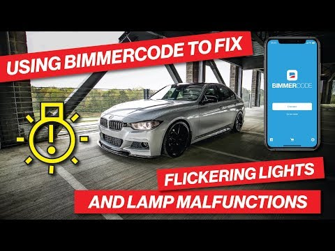 HOW TO FIX FLICKERING LIGHTS & LAMP MALFUNCTIONS ON YOUR F30 BMW USING BIMMERCODE!