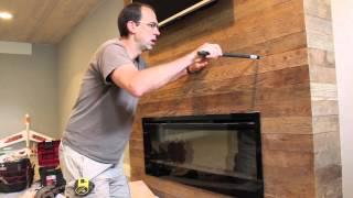 Installing a Wood Fireplace Mantel