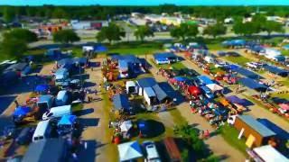THE FLEA MARKET || Tilt Shift Video || BEBOP DRONE FOOTAGE FPV VIDEO | #bebopdronefootage