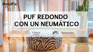Puf Redondo Con Un Neumático · Handfie DIY