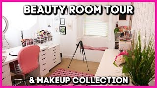 MY BEAUTY ROOM TOUR AND MAKEUP COLLECTION | MAKEMEUPMISSA