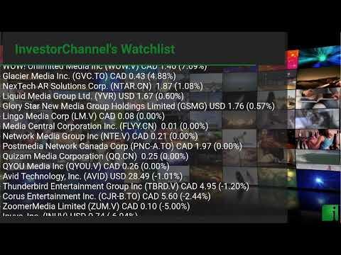 InvestorChannel's Media Watchlist Update for Tuesday, October, 26, 2021, 16:00 EST