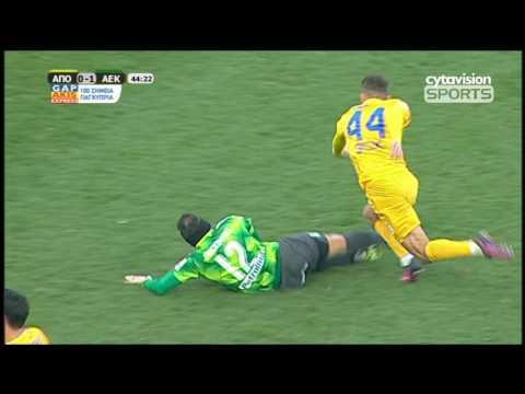 ΒΙΝΤΕΟ: ΑΠΟΕΛ 1-1 ΑΕΚ, Φάσεις και γκολ