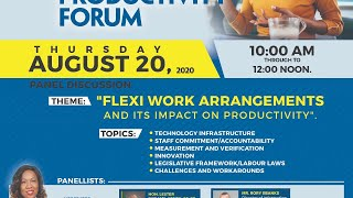 "Panel Discussion -"" Flexi Work Arrangements and its Impact on Productivity"""