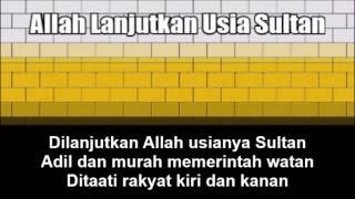 Malaysian State Anthem of Perak (Allah Lanjutkan Usia Sultan) - Nightcore Style With Lyrics
