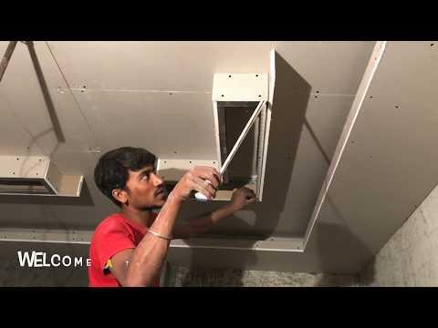 False ceiling for Living Room 14.5' x 10 ' | Gypsum Board Ceiling Design