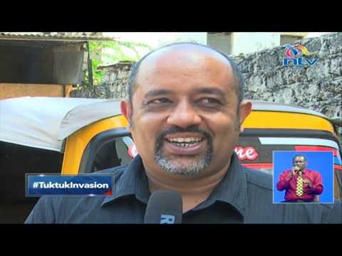 The tuk tuk 'invasion' in Mombasa County