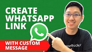How To Create Your Own WhatsApp Link With Custom Message   WhatsApp Link Generator