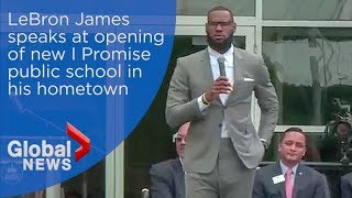 LeBron James full speech at opening of I Promise School in Akron, Ohio