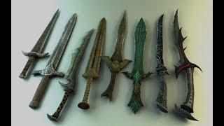Стеклянное оружие Скайрима | поделки из стекла своими руками