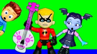 Incredibles 2 Dash Borrows Vampirina and PJ Masks Stuff for Fun Day Out
