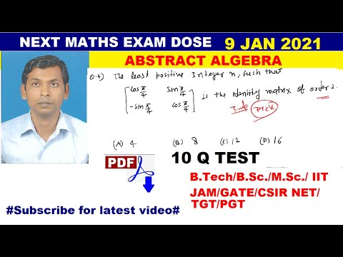 #04 next maths exam dose | mcq of abstract algebra | number of ...