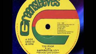 "Barrington Levy - Too Poor 12""  1981"