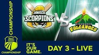 LIVE West Indies Championship - Day 3 | Jamaica v Windwards | Sunday 6th January 2019