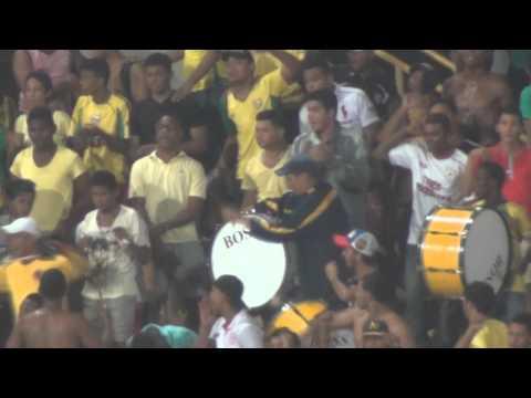 """""""Rebelión Auriverde Norte - Real se metió, adentro de mi corazón"""" Barra: Rebelión Auriverde Norte • Club: Real Cartagena"""