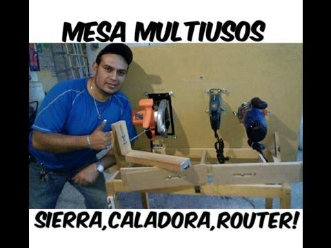 Mesa Multifuncional Sierra,Caladora,Router y Guías.