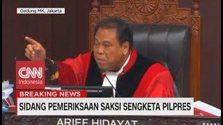 Perdebatan Panas Hakim MK & BW Sebelum Mendengarkan Pernyataan Saksi Kedua