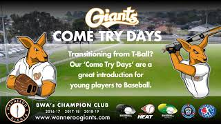 Giants 'Come Try Days'