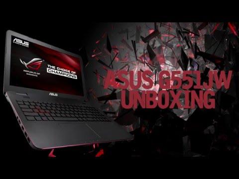 Asus G551JW laptop unboxing