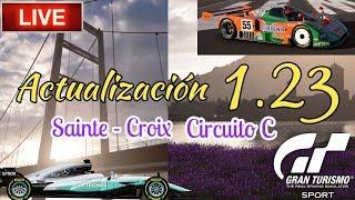 🔴 Directo de Gran Turismo Sport - Actualización 1.23 | Carreras en Sainte - Croix circuito C
