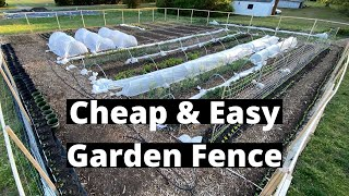 Cheap And Easy Garden Fence (Keeps Everything Out!)