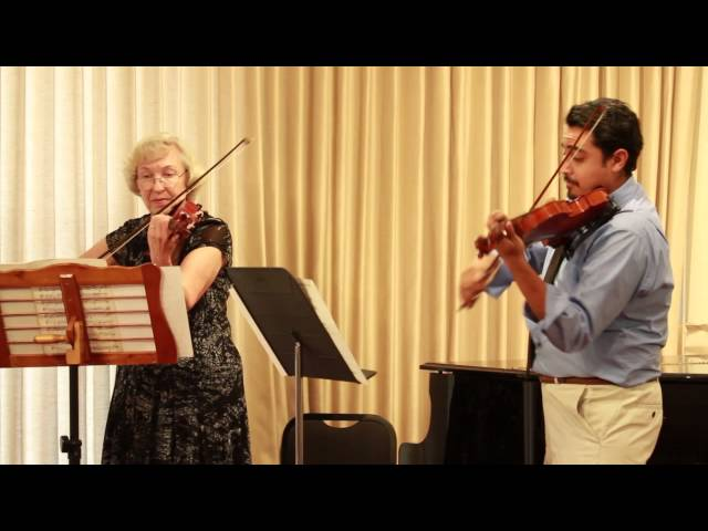 Violinist Tito Quiroz Angulo Performs with Nancy Benning at Benning Violins 60th Anniversary