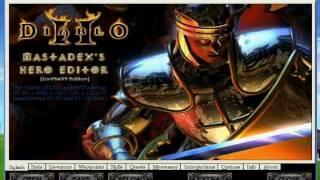 Diablo II Hero Editor How to hex Skills - hmong video