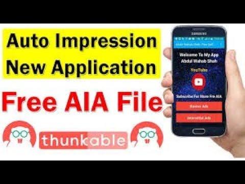 Auto Impression Aia File admob best self click aia file 2018