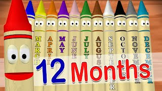 Calendar Crayons Teach Months of the Year